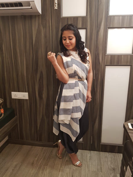 Bollywood actress Shweta Tripathi wears Dhoti sari from O Layla's Samsara collection