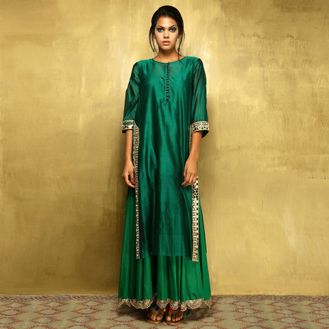 Parvati Maxi - Bottle Green - O Layla