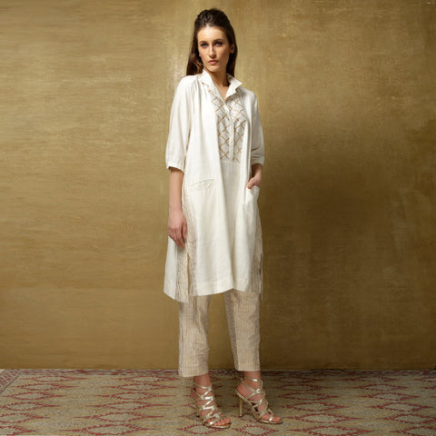 Yuri tunic with Simi pants - Ivory and Gold