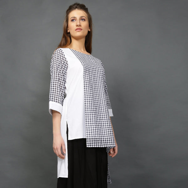 Sachi Tunic (Black white checks)