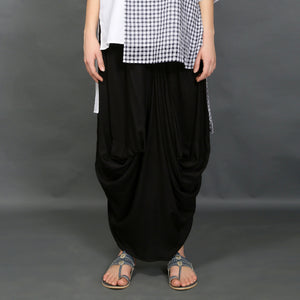 Sachi tunic with Hoshi skirt - Black and White