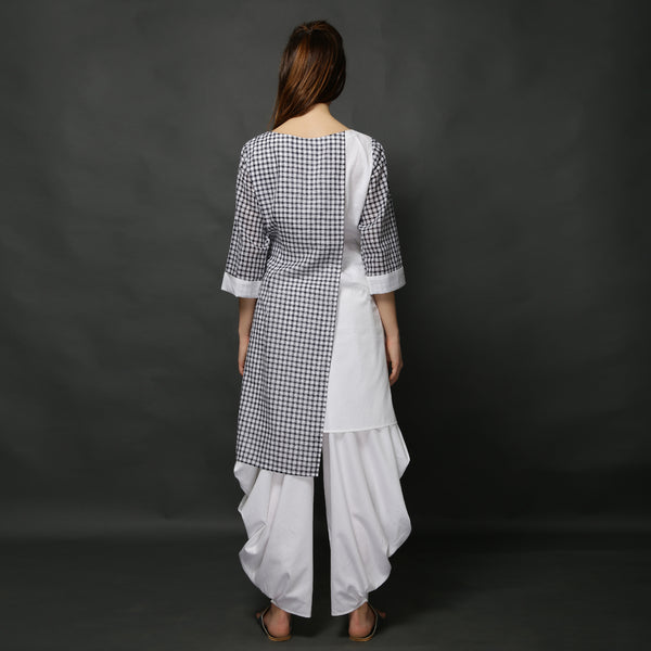 Sachi Tunic with Goro Pants - Black and White