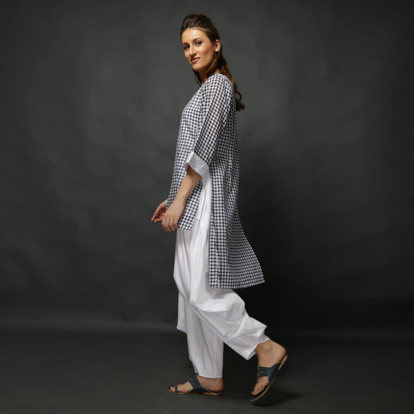 Sachi Tunic - Black White Checks