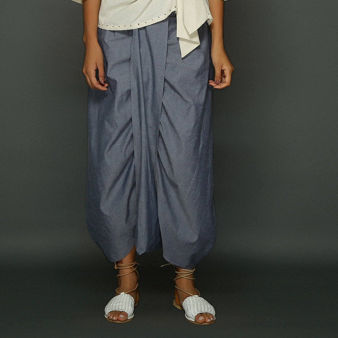 Ima Dhoti Skirt - Blue Chambray