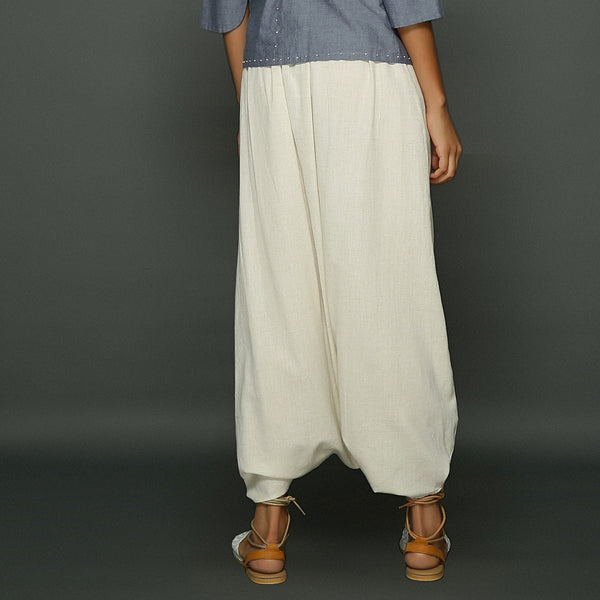 Ima Dhoti Skirt - Off White