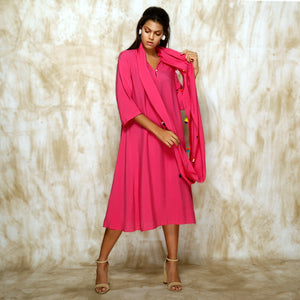 Tami Scarf Dress - Hot Pink