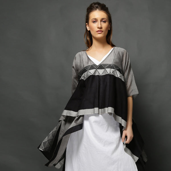 Umika Cape Top - Black Silver