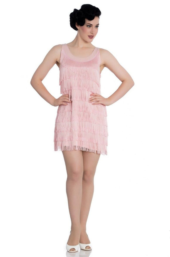 1920s Dress Pink - Rockamilly-Dresses-Vintage