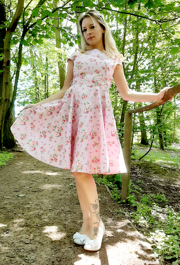 Beatrix Dress Pink - Rockamilly-Dresses-Vintage