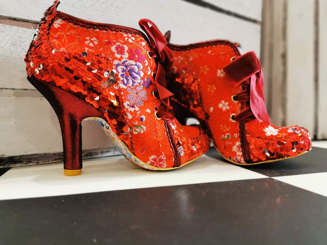 Abigail's Third Party Red Irregular Choice - Rockamilly-Shoes-Vintage