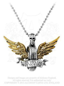 Alchemy UL13 Live To Ride Necklace - Rockamilly-Jewellery-Vintage