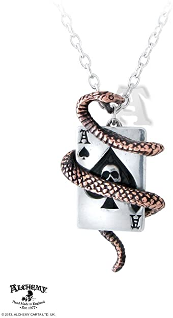 Alchemy UL13 Snake of Aces Necklace - Rockamilly-Jewellery-Vintage