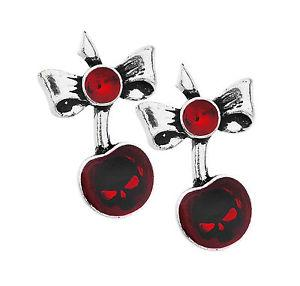 Alchemy UL17 Black Cherry Earrings - Rockamilly-Jewellery-Vintage