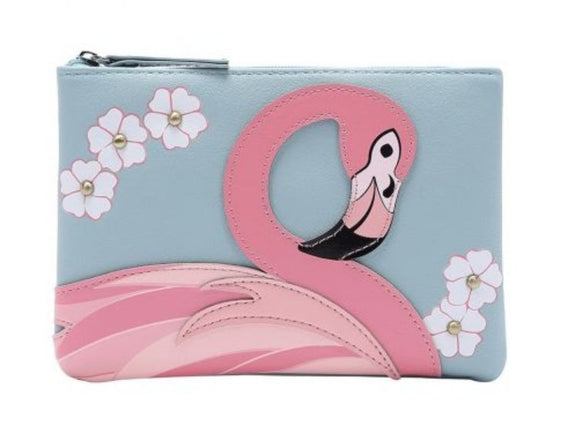 Animal Park Flamingo Zipper Coin Purse - Rockamilly-Bags & Purses-Vintage