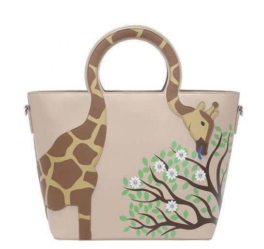 Animal Park Giraffe Tote Bag - Rockamilly-Bags & Purses-Vintage