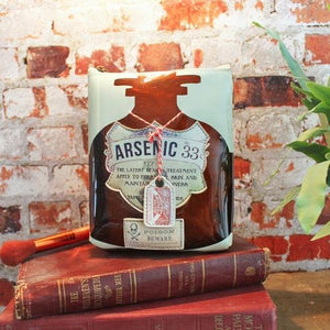 Apothecary Arsenic Make Up Bag - Rockamilly-Bags & Purses-Vintage
