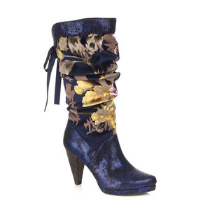 Athena Boots Navy - Rockamilly-Shoes-Vintage