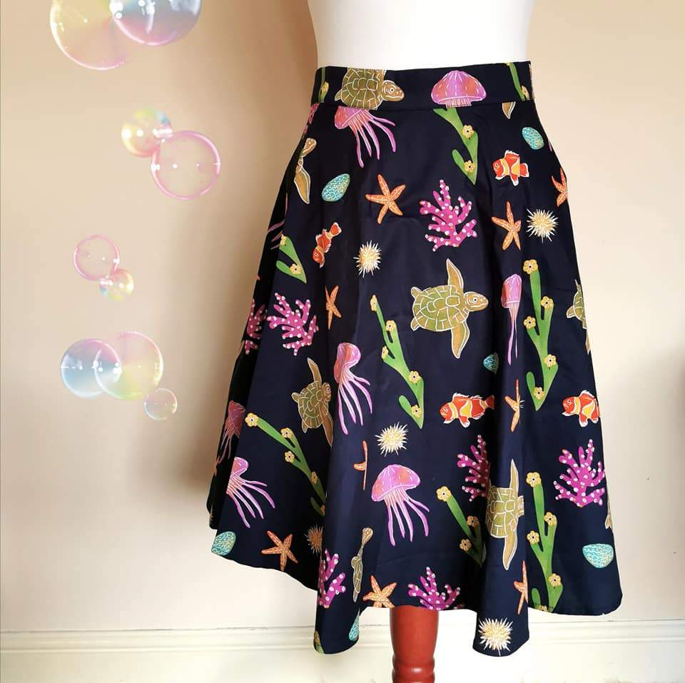 Atlantis Skirt - Rockamilly-Skirts & Shorts-Vintage