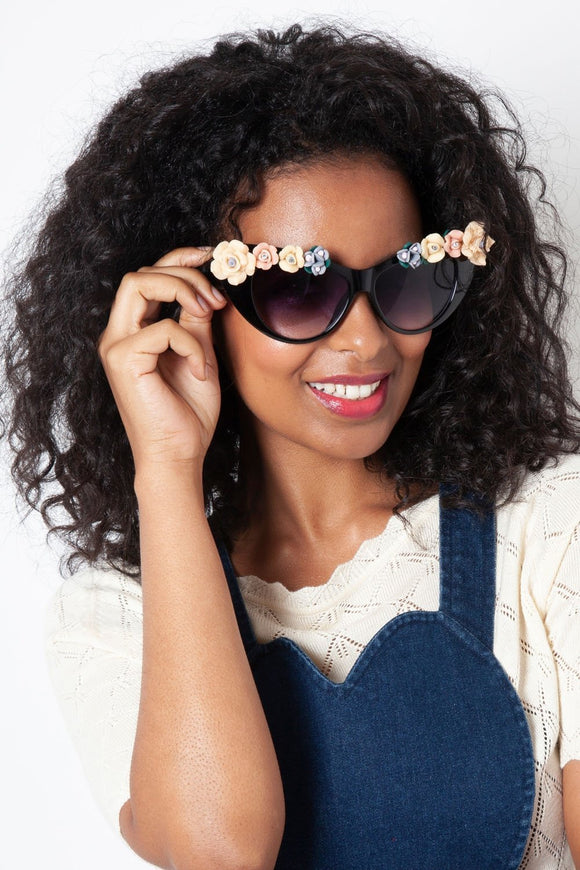 Audrey Oversized Vintage Sunglasses - Rockamilly-Accessories-Vintage