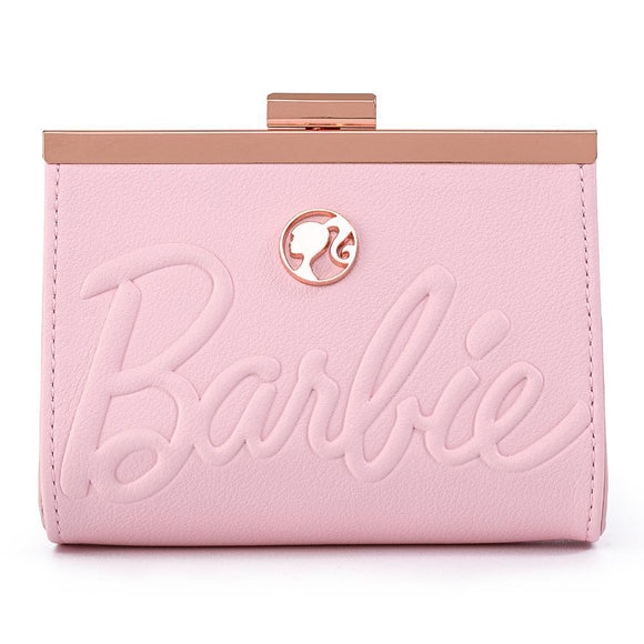 Barbie Rose Gold Kisslock Wallet - Rockamilly-Bags & Purses-Vintage