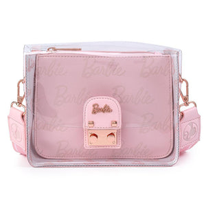 Barbie Rose Gold Pouch & Clear Crossbody Bag - Rockamilly-Bags & Purses-Vintage