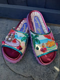 Beach Bum Sliders Irregular Choice - Rockamilly-Shoes-Vintage