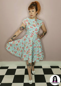 Beatrix Dress Blue - Rockamilly-Dresses-Vintage