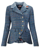 Beautiful Basket Weave Jacket - Rockamilly-Jackets & Coats-Vintage
