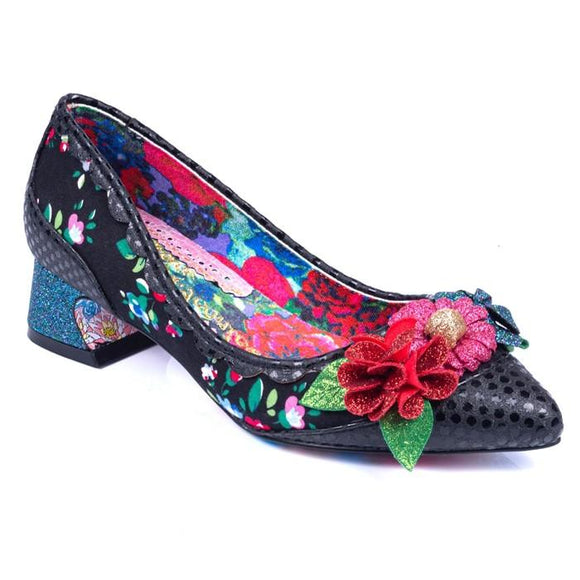 Bellasita Black Irregular Choice - Rockamilly-Shoes-Vintage