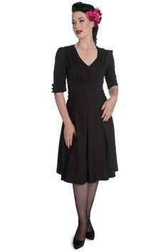 Black 50s dress - Rockamilly-Dresses-Vintage