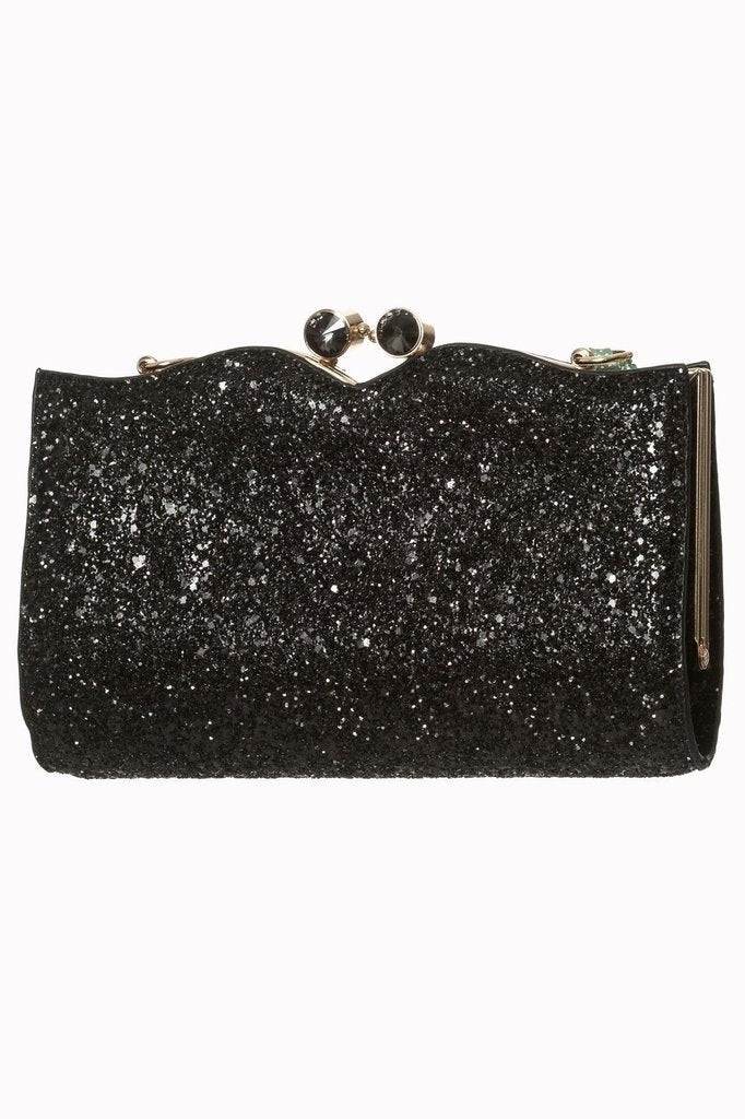 Black Glitter Dorothy Bag - Rockamilly-Bags & Purses-Vintage