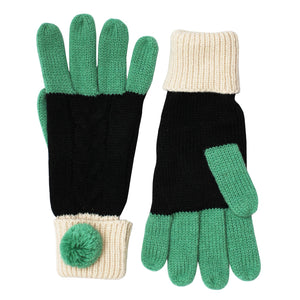Black Knitted Loop Gloves - Rockamilly-Accessories-Vintage