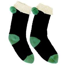 Black Knitted Loop Socks - Rockamilly-Accessories-Vintage