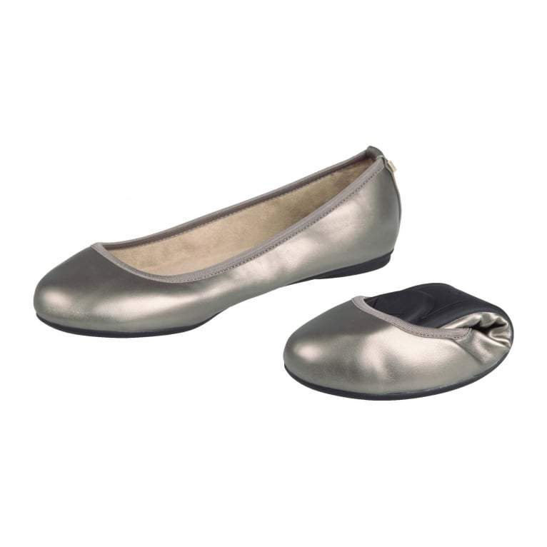 Butterfly Twist Sophia Pumps Handy Folding Shoes Pewter - Rockamilly-Shoes-Vintage