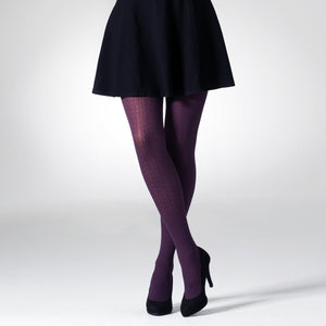 Cable Pattern Tights - All Colours - Rockamilly-Hosiery-Vintage