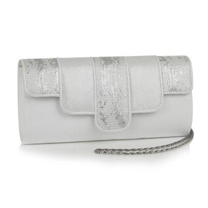 Canberra White/Silver Bag Ruby Shoo - Rockamilly-Shoes-Vintage