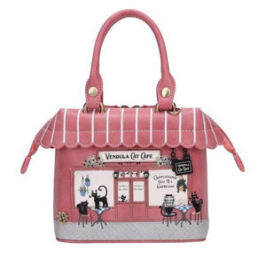 Cat Cafe Grab Bag Vendula - Rockamilly-Bags & Purses-Vintage