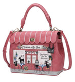 Cat Cafe Grace Bag - Rockamilly-Bags & Purses-Vintage