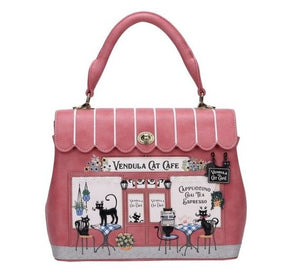 Cat Cafe Grace Bag Vendula - Rockamilly-Bags & Purses-Vintage