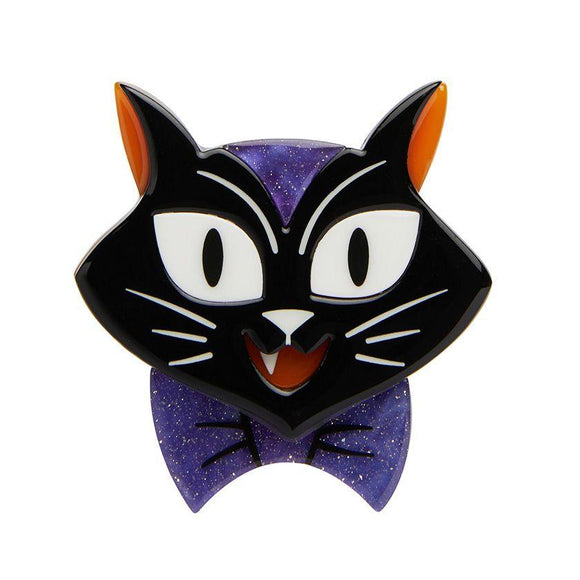 Cat Charming Brooch - Rockamilly-Jewellery-Vintage