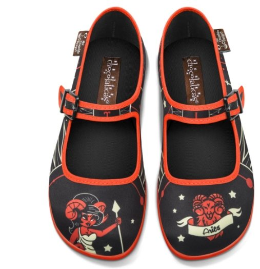 Chocolaticas® Aries Women's Mary Jane Flat Shoes - Rockamilly-Shoes-Vintage
