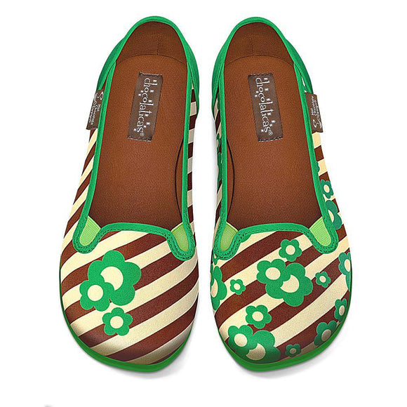 Chocolaticas® Choco Mint Women's Slip-On - Rockamilly-Shoes-Vintage