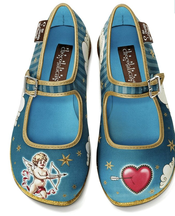 Chocolaticas® Cupid Women's Mary Jane Flat Shoes - Rockamilly-Shoes-Vintage