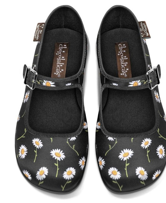 Chocolaticas® Daisy Women's Mary Jane Flat Shoes - Rockamilly-Shoes-Vintage