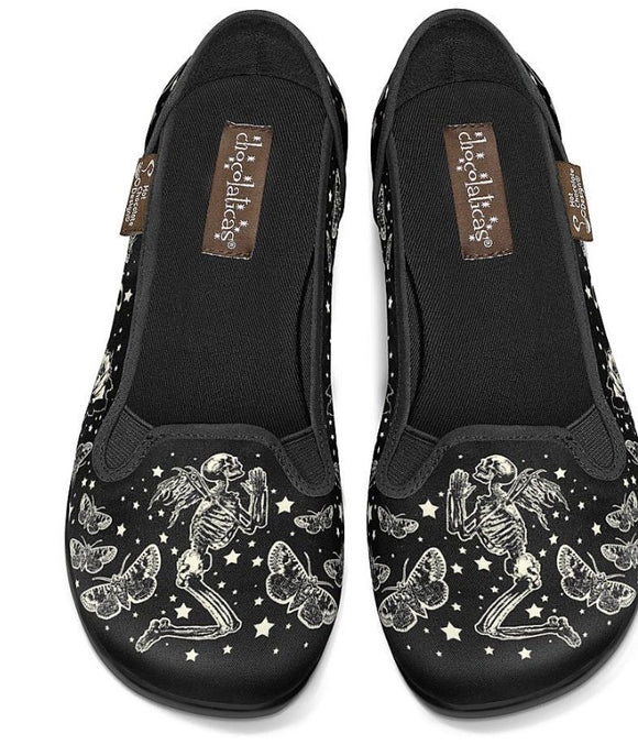 Chocolaticas® Fallen Angels Slip On Shoes - Rockamilly-Shoes-Vintage