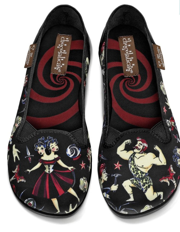 Chocolaticas® Freak Show Slip On Shoes - Rockamilly-Shoes-Vintage