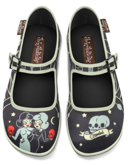 Chocolaticas® Gemini Women's Mary Jane Flat Shoes - Rockamilly-Shoes-Vintage