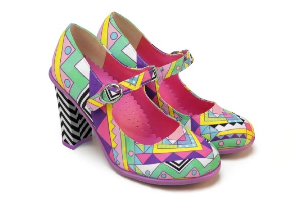 Chocolaticas® Geometric High Heels - Rockamilly-Shoes-Vintage