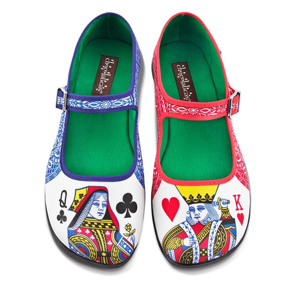 Chocolaticas® Lady Poker Women's Mary Jane Flat - Rockamilly-Shoes-Vintage