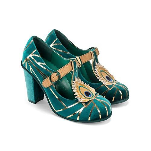 Chocolaticas® Peacock High Heels - Rockamilly-Shoes-Vintage
